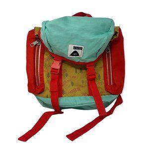 Poler Rolltop Backpack Blue Brown Tree Buckles Zip Outdoor Hiking 21 Liter Pack